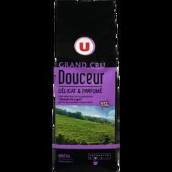 Café grand cru douceur U, paquet de 250g