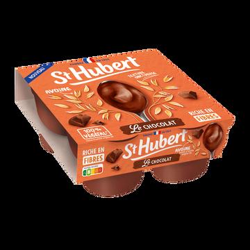 St Hubert Spécialité Végétale Fermentée À Base D'avoine Saveur Chocolat St Hubert - 4x100g