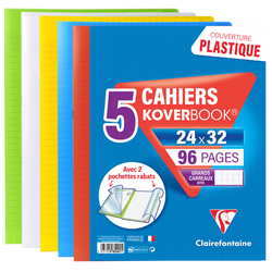 Cahier Kover Book CLAIREFONTAINE, 24x32cm, 96 pages, CIS, x5