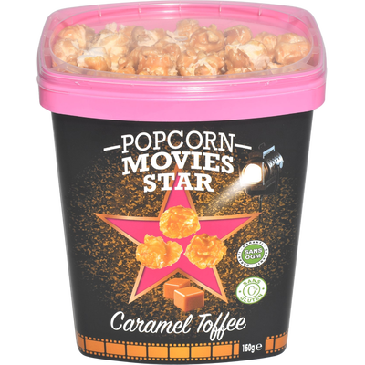 Gobelet caramel toffee, MOVIES STAR, 150g