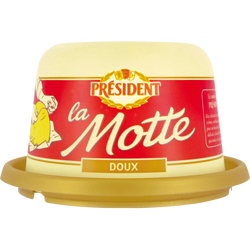 Beurre doux 82% de matière grasse PRESIDENT, 250g