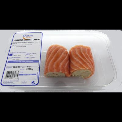 Ballotins de saumon et Saint-Jacques, élaborés en France, 2 pièces, barquette de 240g
