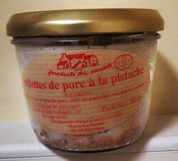 Rillettes de porc à la pistache Produits du causse 180g