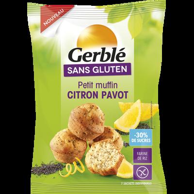 Petits muffins citron pavot sans gluten GERBLE, 210g
