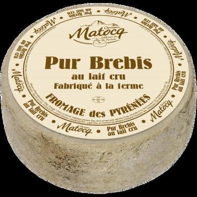 Fromage fermier de brebis au lait cru et entier à pâte pressée non cuite 36%MG MATOCQ