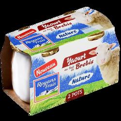 Yaourt au lait de brebis nature ROYANS FRAIS, 2x115g