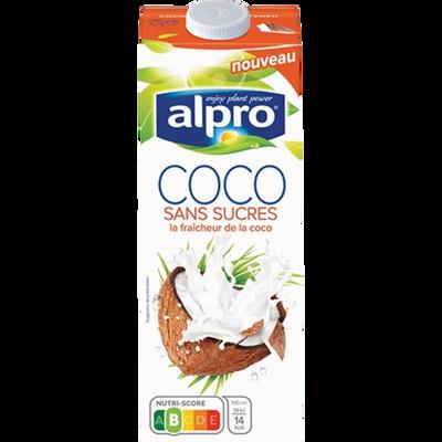 Boisson à la noix de coco, aromatisés avec calcium et vitamines ajoutés sans sucre ALPRO, 1 litre