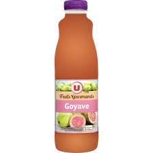 "Jus à la goyave ""fruits gourmands"" U, bouteille de 1l"