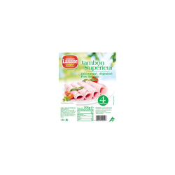 Jambon supérieur sans couenne Dégraissé VPF, 4 tranches, 200g