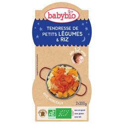 Bol Bonne nuit Légumes Riz BABYIBO dès 12 mois 2x200g