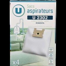 SAC ASPIRATEUR U SU2302 X4