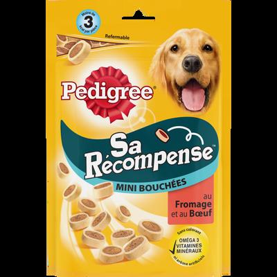 Sa récompense mini bouchées au boeuf et au fromage pour chien PEDIGREE, sachet de 140g