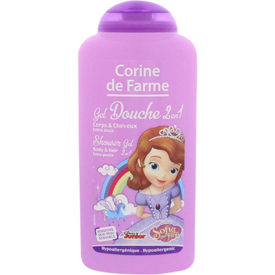 Gel douche princesse sofia/minnie CORINE DE FARME, flacon de 250ml