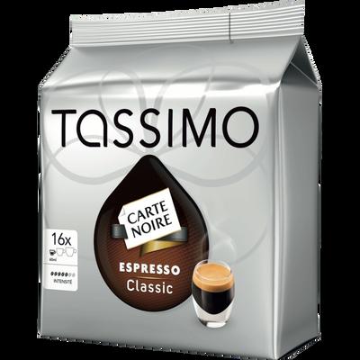 Café en dosettes espresso classique TASSIMO, x16 soit 104g
