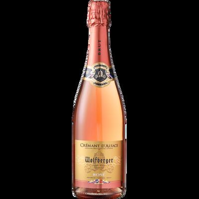 Crémant rosé AOP d'Alsace WOLFBERGER, bouteille de 75cl