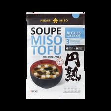 Hikari Miso Soupe Instantanée Miso Tofu Algues Wakame , 58g