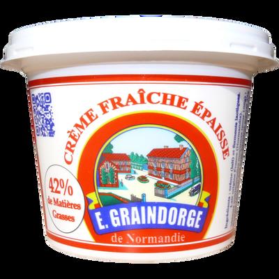 Crème fraîche GRAINDORGE, 42% de MG, 20cl