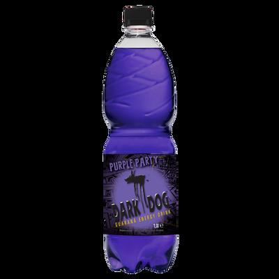 Boisson énergisante à la taurine purple party DARK DOG, bouteille de 1l