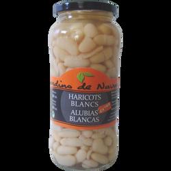 Haricots blancs JARDIN DE NAVARRES, bocal en verre de 400g