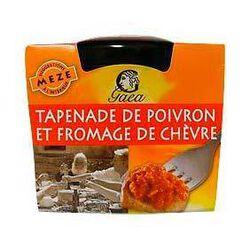 Tapenade de poivron et fromage de chèvre GAEA, pot de 100g