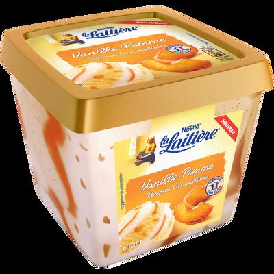 Crème glacée vanille pomme LA LAITIERE, pot de 470g