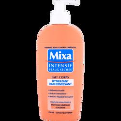Lait pour le corps hydratant raffermissant intensif pour peaux sèchesMIXA, flacon de 250ml