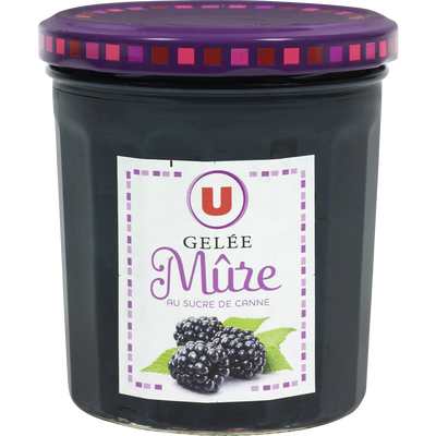 Gelée de mûres 50% de fruits U, pot de 370g