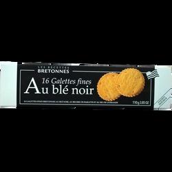 Galette fine au beurre de baratte et au blé noir, étui de 110g