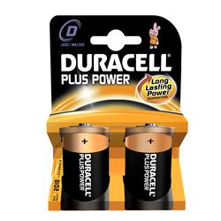 2 Piles LR20 D Plus Power DURACELL