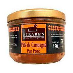 PATE DE CAMPAGNE BIRABEN 180GR
