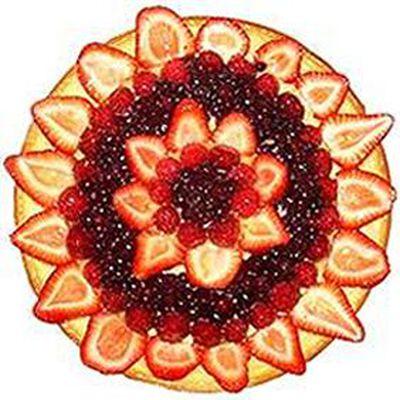 Tarte fraise, framboise, myrtille, 8 parts, 980g