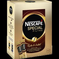 Café soluble Spécial Filtre NESCAFE, 25 sticks, 50g