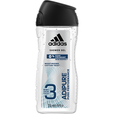 Gel douche man 0% savon adipure ADIDAS, flacon de 250ml