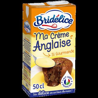 Crème Anglaise UHT BRIDELICE, brique de 50cl