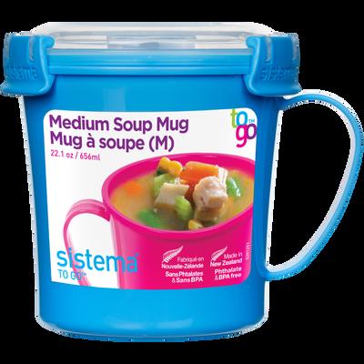 Mug à soupe TO GO, 656ml, 142x114x119mm, assorti