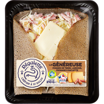 Galettes pomme de terre lardons frommage raclette REGALETTE 210g