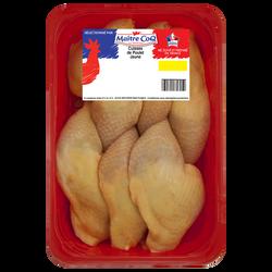 Cuisse poulet jaune avec partie dos, MAITRE COQ, France, barquette, 2,5kg