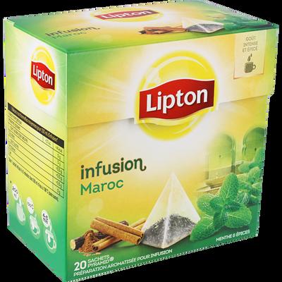Infusions Maroc LIPTON, 20 sachets pyramide, 40g