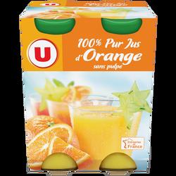 Pur jus orange U, 4x20cl