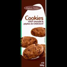 Cookies goût chocolat pépites chocolat, 200g