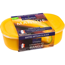 Sorbet plein fruit mangue L'ANGELYS, 500g
