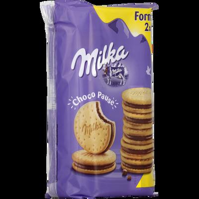 Biscuits choco pause MILKA, x2, 520g
