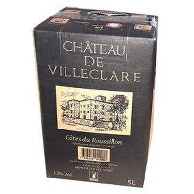 Vin Rouge , AOC Côtes du Roussillon - CHÂTEAU DE VILLECLARE, BIB de 5L