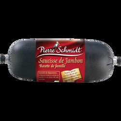 Saucisse au jambon PIERRE SCHMIDT, 250g