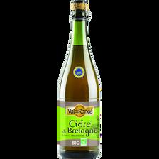 Cidre bouché de Bretagne BIO VAL DE RANCE, 4°, bouteille de 75cl