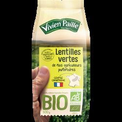 Lentilles vertes BIO VIVIEN PAILLE, sachet de 500g