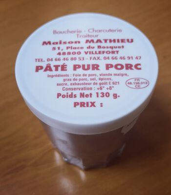 PATE VERRE MATHIEU 130GR