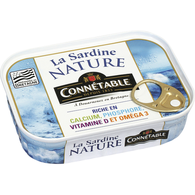 Sardines nature CONNETABLE, 95g