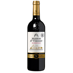 Vin rouge de Bordeaux AOP Mission Saint Vincent, 75cl