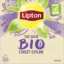 Thé noir bio finest ceylan LIPTON, 20 sachets pyramide de 36g